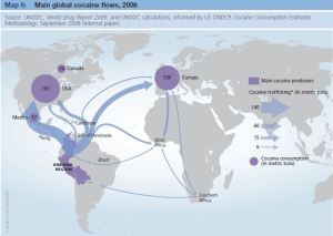 Cocaine trafficking routes