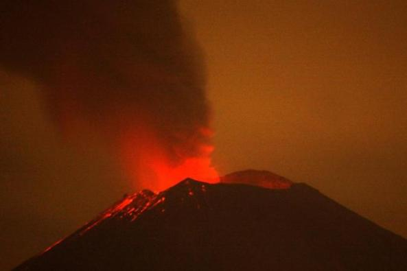 the volcano Popocatepetl