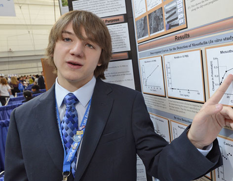 Teen invents method to detect pancreatic cancer